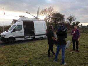 bigblu's satellite broadband capabilities allows Tinopolis to broadcast from rural Wales