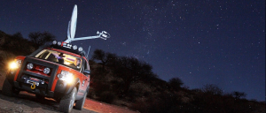 Satellite Dish mounted on Truck